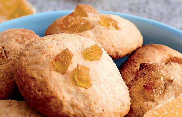 Biscuits à la banane et au gingembre