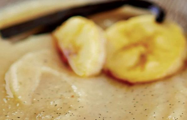 Compote de bananes au thé vert