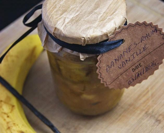 La confiture de bananes