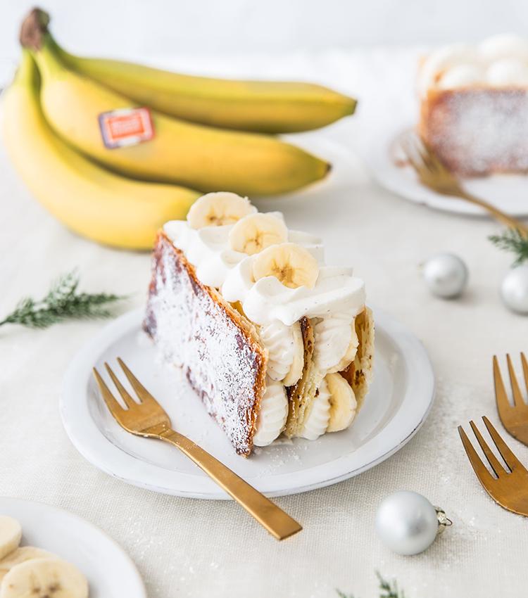 mille-feuille banane vanille